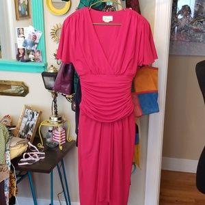 VTG Rimini Hot Pink Sexy Midi Dress